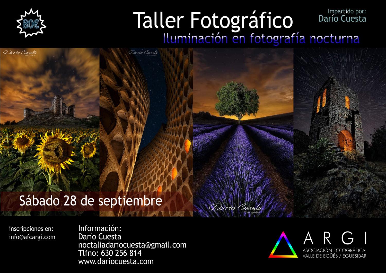 Taller de iluminación en fotografía nocturna – Darío Cuesta